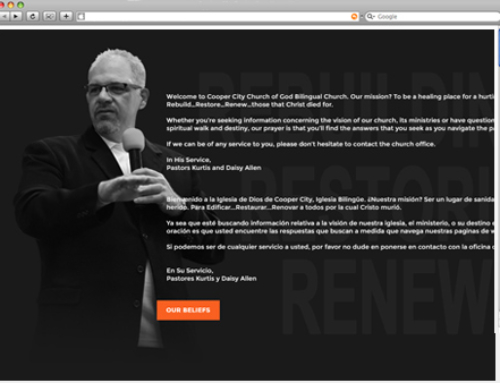 WEBSITE PROJECT: Pastor Kurtis Allen