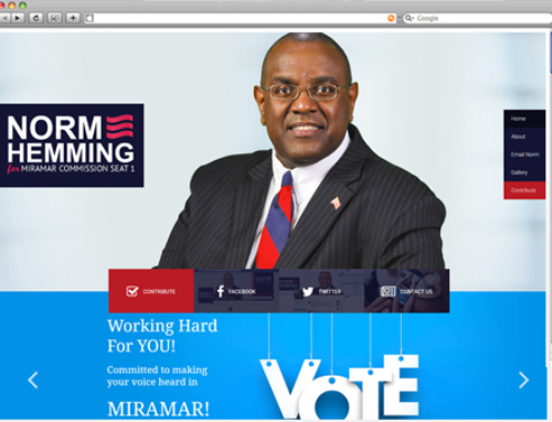 WEBSITE PROJECT: Norman Hemming, for Miramar Commissioner Seat 1