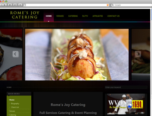 WEBSITE PROJECT: Romes Joy Catering (Internship Team Collaboration)